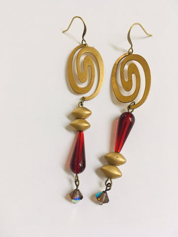 Brass Spirals Earrings