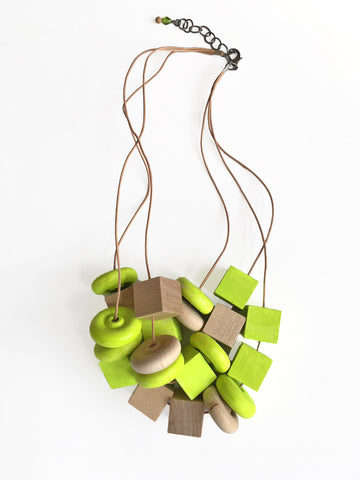 Wood Block Necklace