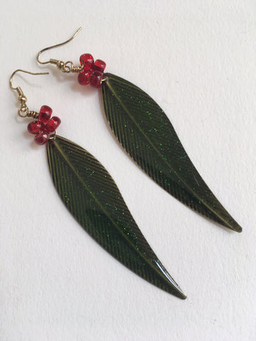 Leaf and Berries Earrings