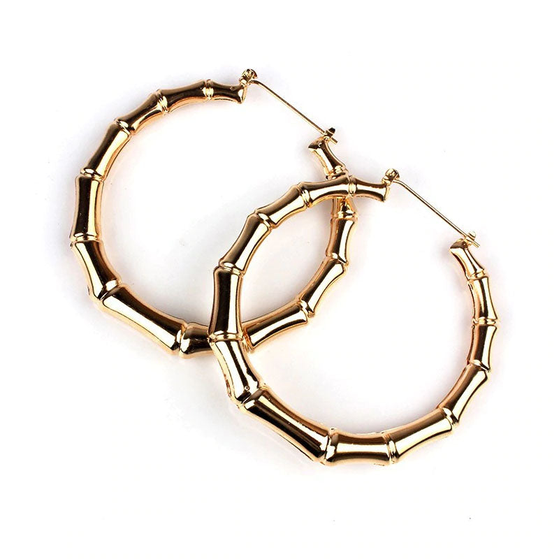 Slay All Day Bamboo Hoochie Mama Hoops