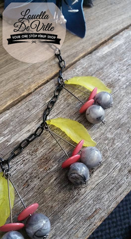 Louella DeVille Handmade Atomic Cherries Necklace