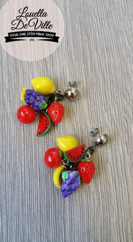 Louella DeVille Handmade Feelin' Fruitie Drop Earrings