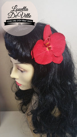 Louella DeVille Handmade Single Red Orchid