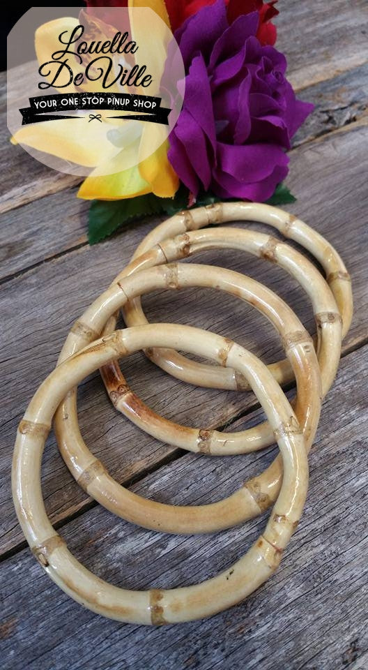 Tiki Time Bamboo Bangles Set of 4