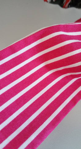 Handmade Bandana Head Wrap Bubblegum Pink Stripe