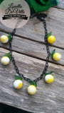 Louella DeVille Handmade Lemon Sorbet Berry Necklace