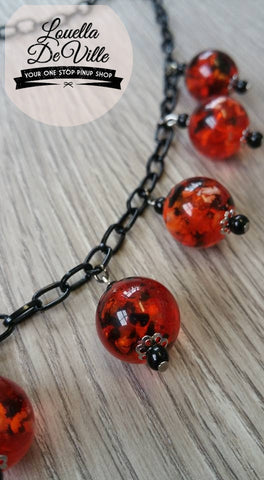 Louella DeVille Handmade Tiny Coi Lanterns Necklace