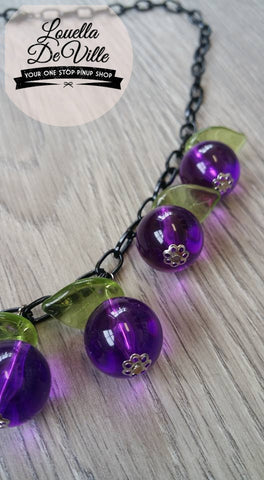 Louella DeVille Handmade Violet Berry Necklace