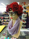 Soft Knitted Infinity Scarf Lilac
