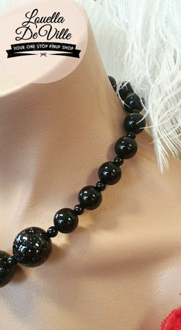 Louella DeVille Handmade Lucille Ball Necklace Black