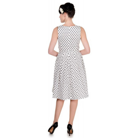 Dolly & Dotty White Polka Dot Lola Sailor Dress