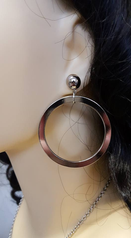 Louella DeVille Handmade Hollywood Hoops (Gold or Silver)