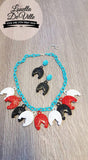 Louella DeVille Handmade Western Pony Necklace & Earring Set