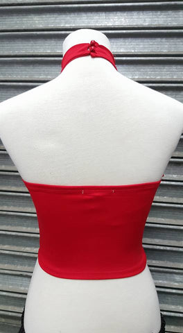 Basic Bad Girl Halter Top Red