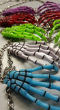 Skull Skeleton Hands Halloween Necklace