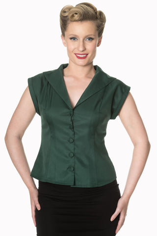 Banned Dream Master Blouse Dark Green