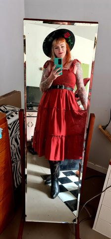 Sunshine From The South Rustic Red Gypsy Dress