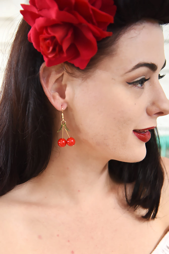 Cherry Delight Dangle Hook Earrings