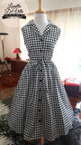 Louella DeVille Houndstooth Draper Dress