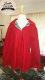 Louella DeVille Joan Reversible Cape Red/Houndstooth
