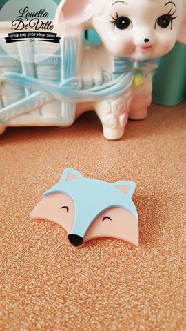 Louella DeVille Handmade Mr Foxy Brooch (Various Colours)