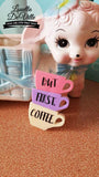Louella DeVille Handmade Coffee Lover Brooch (2 Colours Available)