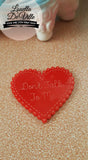 Louella DeVille Handmade Scalloped Heart Statement Brooch (Various Designs!)