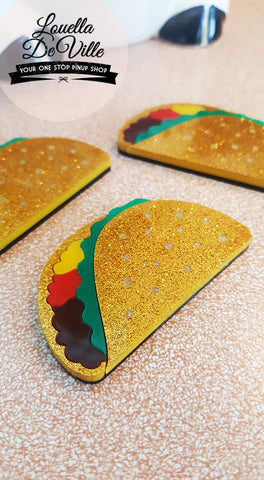 Louella DeVille Handmade Taco Time Brooch