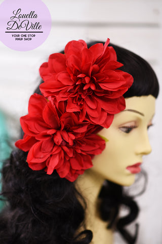 Louella DeVille Single Maxi Dahlia Hair Clip (Various Colours!)