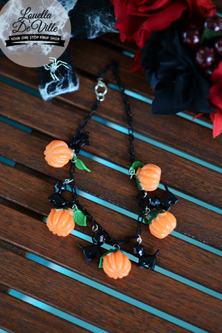 Louella DeVille Halloween Pumpkin Necklace