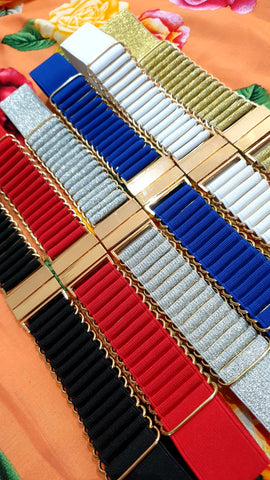 Welcome Back 20s Glitzy Elastic Belt (Various Colours!)