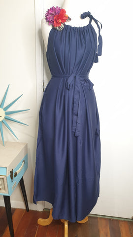 Sunshine Tara Maxi Dress Black & Blue For You