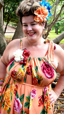 Sunshine Tara Maxi Dress Peach Roses