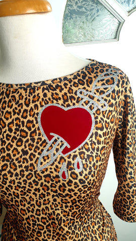 Louella DeVille Ruth Leopard Love Hurts Top