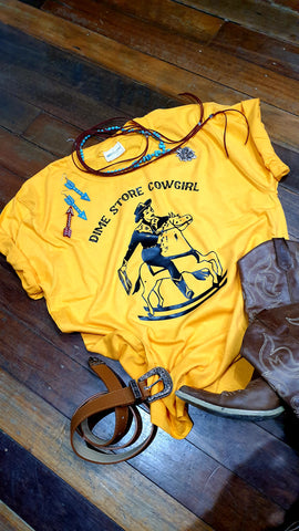 Louella DeVille Dime Store Cowgirl Tee