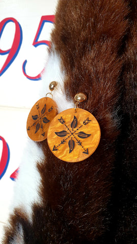 Louella DeVille Navajo Arrow Honeycomb Earrings