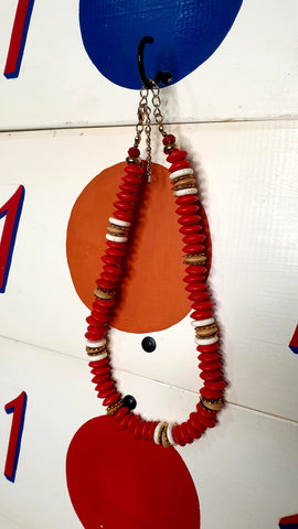 Sunrise ain The Desert Red Bead Necklace