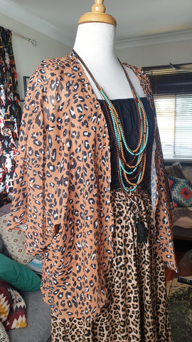 Sunshine Bridgette Leopard Rodeo Blouse