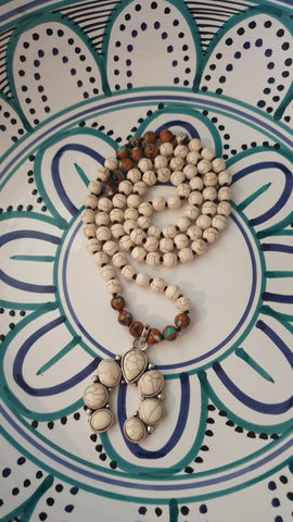Long Navajo Desert Dreams Turquoise Bead Necklace