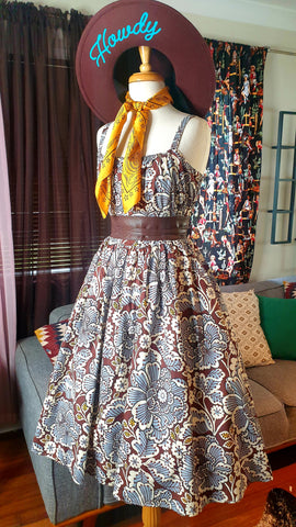 Sunshine Leopard Bonfire Dress