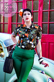 Sunshine Peggy Bundy Cigarette Pants Green