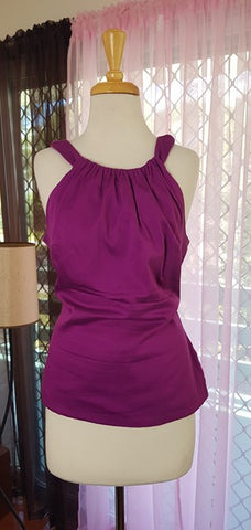 PRE LOVED! PUG Pinup Girl Clothing Purple Harley Top