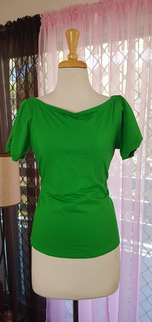 PRE LOVED! Bonsai Kitten Green Top