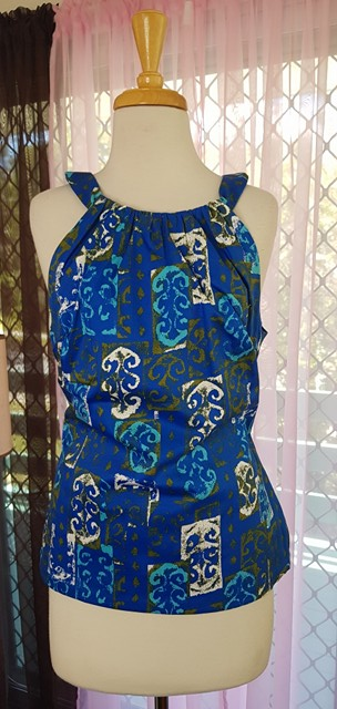 PRE LOVED! PUG Pinup Girl Clothing 60s Print Harley Top