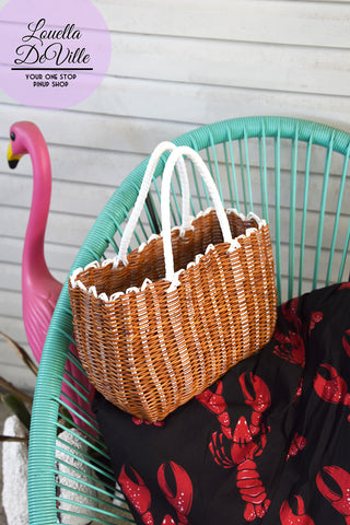 In A Pinch Summer Plastic Weave Handbag