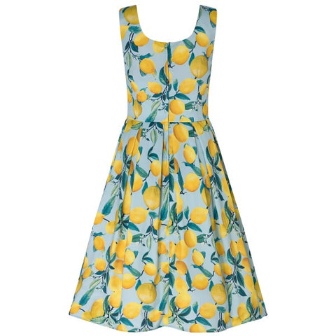 Dolly & Dotty Amanda Scoop Neck Swing Dress Blue Lemonade
