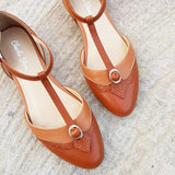 Charlie Stone Leather Parisienne Tan Flats