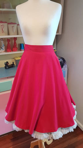 PRE LOVED! Rock Steady Red Skirt sz XL