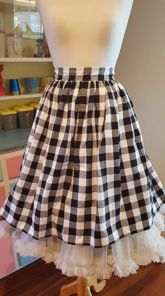PRE LOVED! Bernie Dexter Gingham Skirt sz 1XL