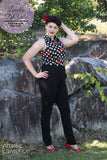 Louella DeVille Olivia High Waisted Black Ponte Pants